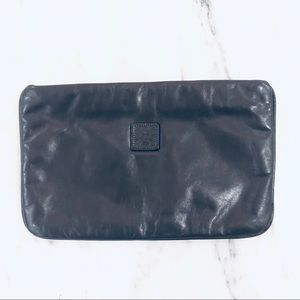 Vintage Anne Klein Grey Leather Clutch